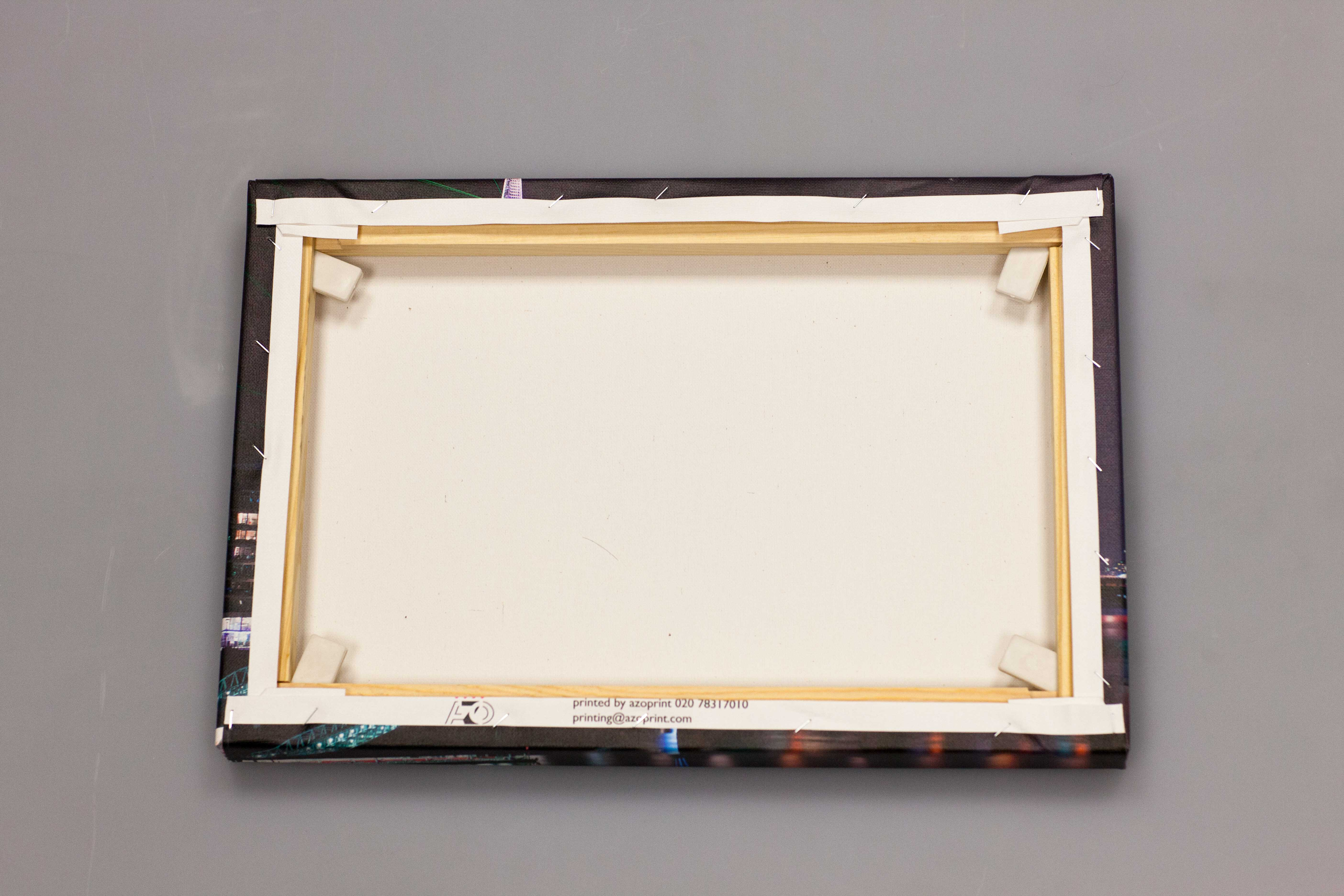Photo on canvas with wooded frame