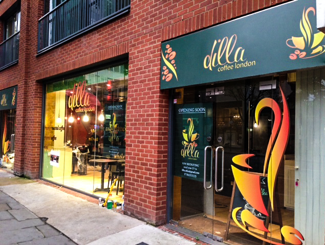 design and graphic install Dilla Coffee Notting hill.jpg
