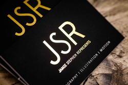 Business card with gold foil
