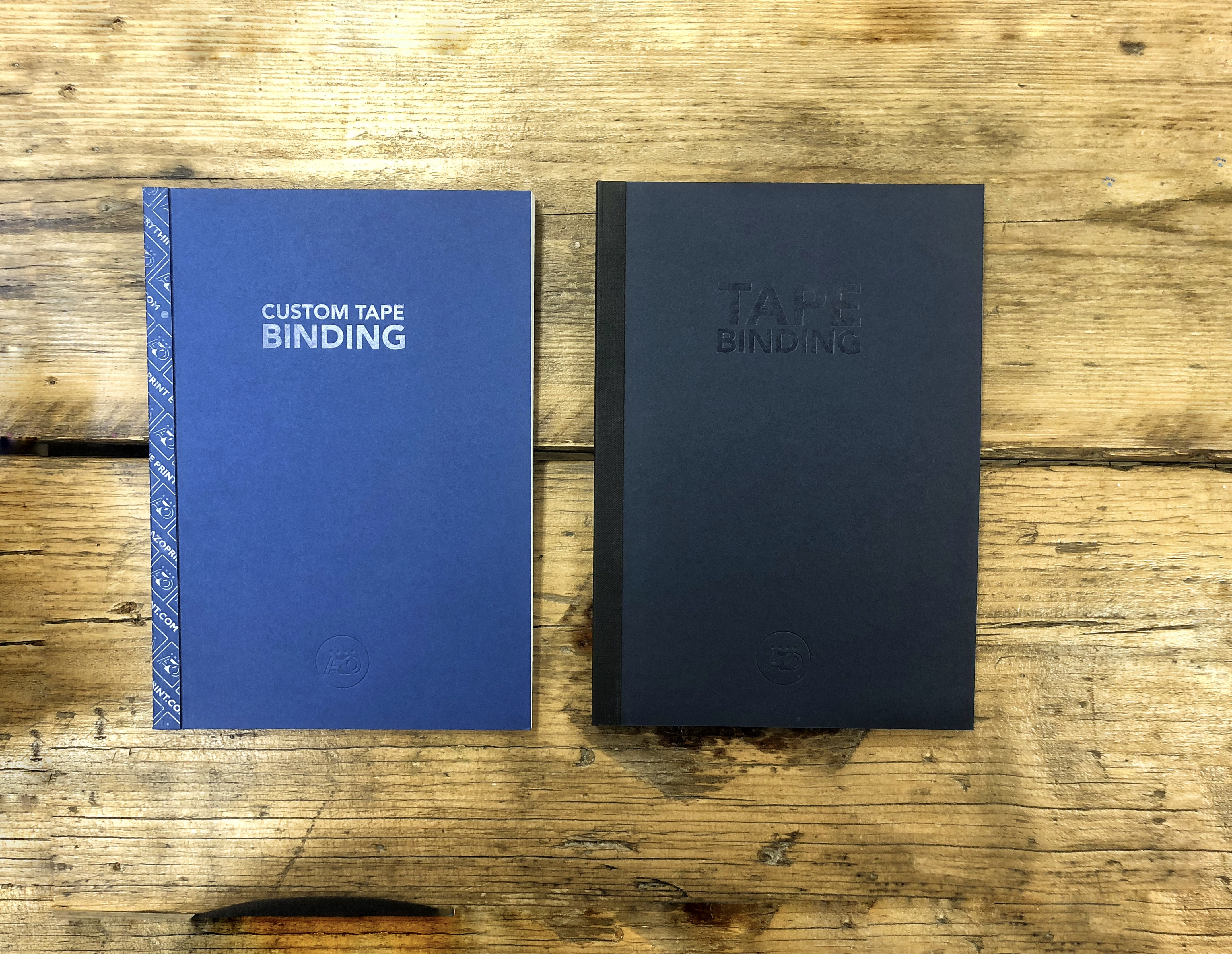 Custom tape and tape binding