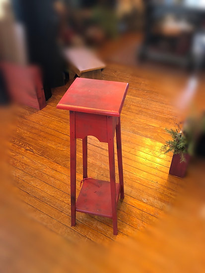 PAINTED WOOD CANDLE STAND