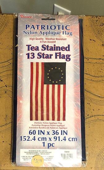 Tea Stained 13 Star Flag