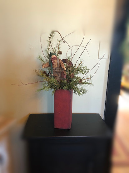 TALL RED BOX ARRANGEMENT