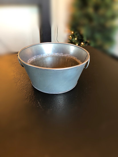 SM PEWTER PLANTER PAN