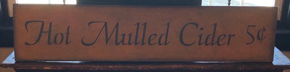 Mulled Cider sign