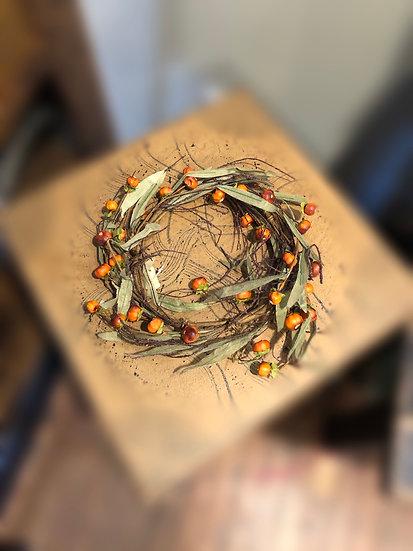 "7"" pumpkin wreath"