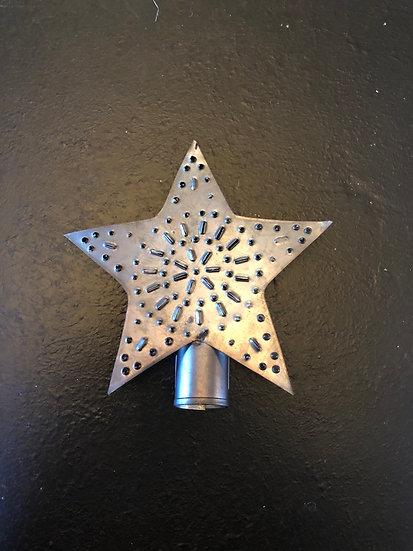 """TIN STAR TREE TOPPER, SMALL 5.5"""" X 4"""""""