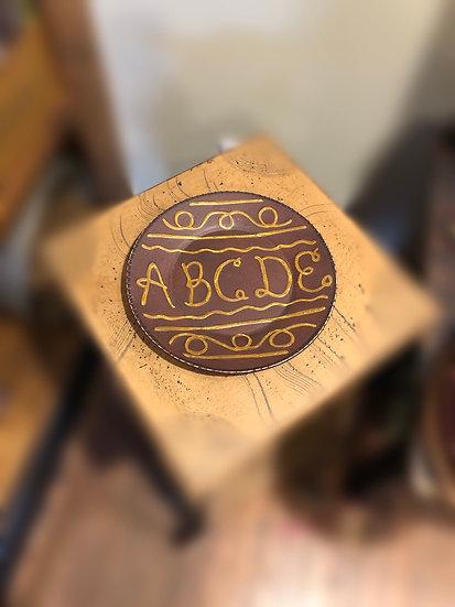 Redware  ABC plate
