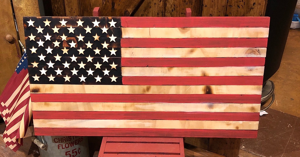 "13"" X 25"" HANDCRAFTED FLAG"