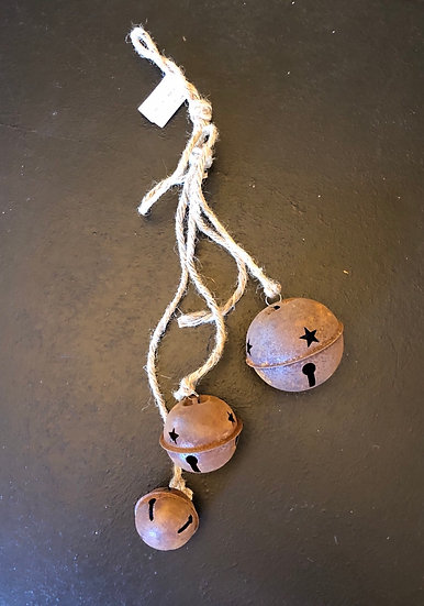 "Jingle Bell Hanging | Rusty | 18"""