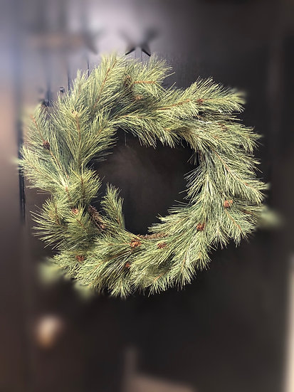 Northern Soft Pine Wreath with Cones | 30""