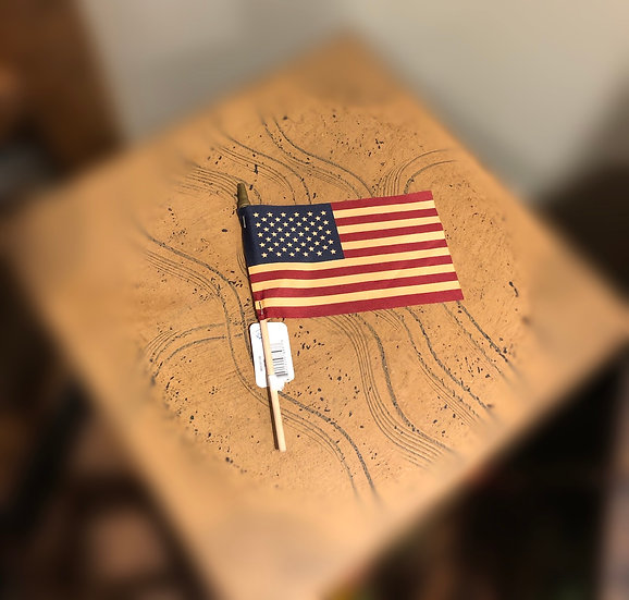 "4"" X 6"" TEA STAINED FLAG"