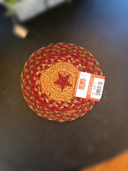CINNAMON STAR BRAIDED TRIVET