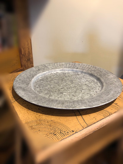 """12"""" TIN CHARGER PLATE"""