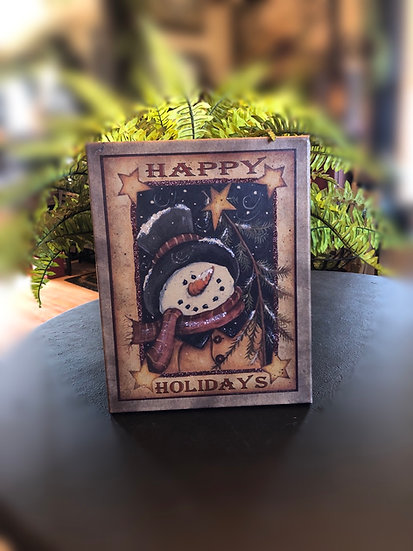 11x14 happy holidays canvas