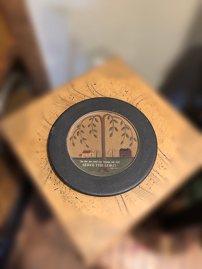 "9.5"" decorative plate"