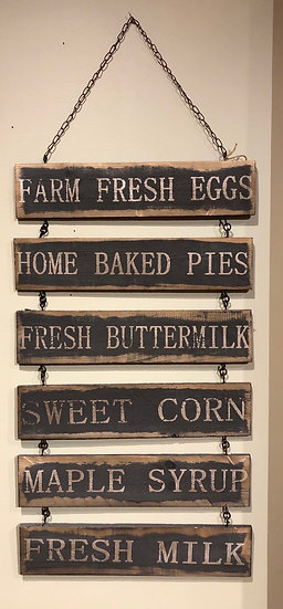 FARM FRESH WALL SIGN