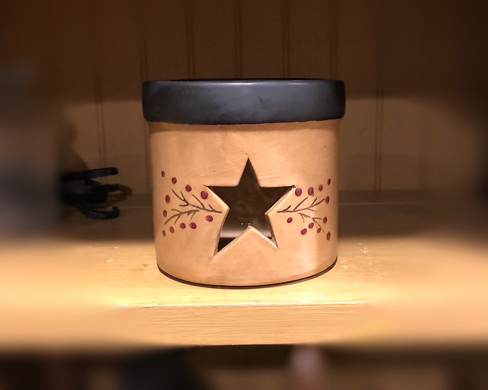 PRIMITIVE STAR CANDLE CROCK