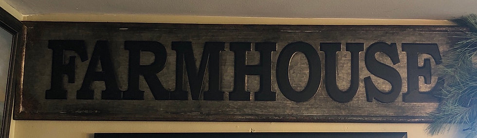 LG TIN FARMHOUSE SIGN