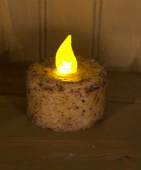 BURNT IVORY TIMER TEA LIGHT