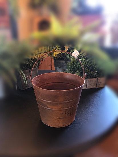 "9"" rusty pail"