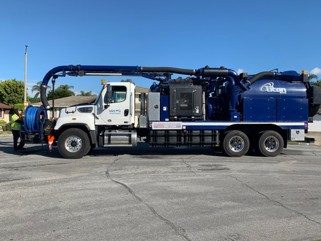 EOCWD Vactor Truck Visits our Block!