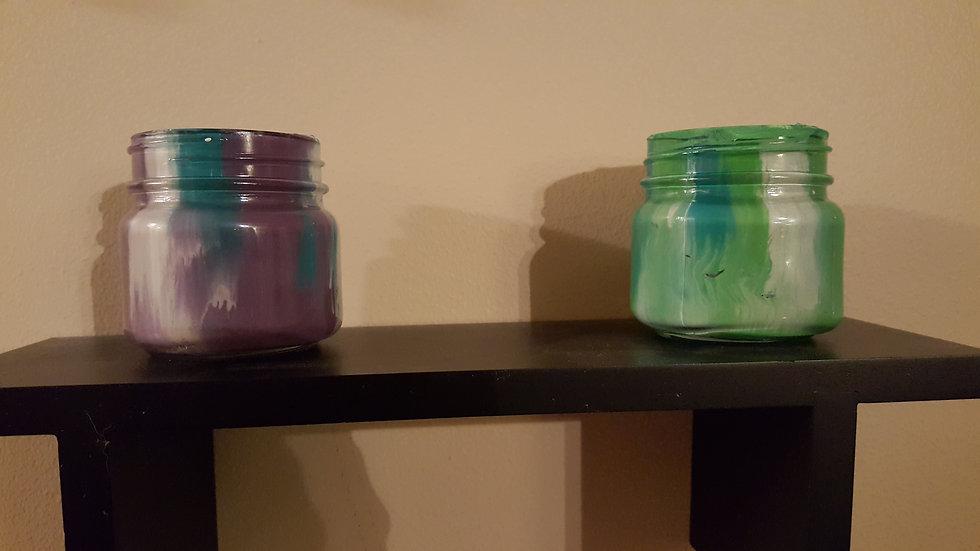 Small Multicolor Jars