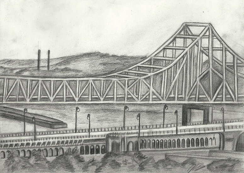 "St Louis. 8.5x11"" Original pencil drawing"