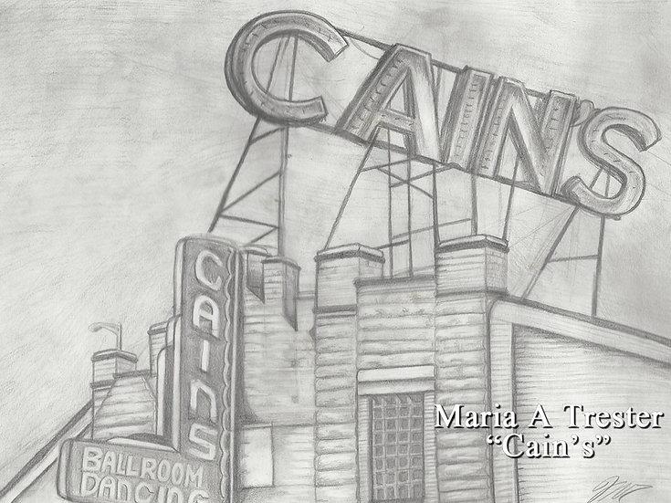 """Cain's""  8.5""x11"" Print w/ Frame"