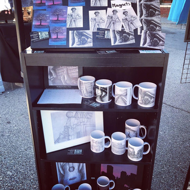 Art Mugs on Display