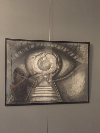 "Eye of the Keyholder.18x24""Original Pencil Drawing"