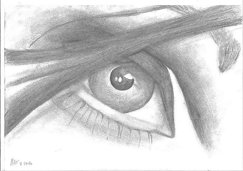 """The Eye"" 7""x10"" Original w/ Frame"