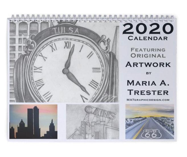 2020 Tulsa Art Calendar