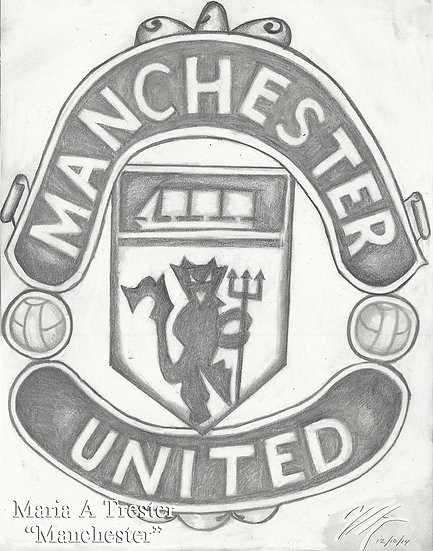 """Manchester"" 8.5""x11"" Print w/ Frame"