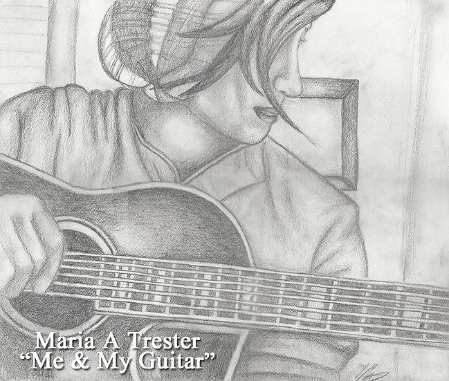 """Me & My Guitar"" 8.5""x11"" Print w/ Frame"