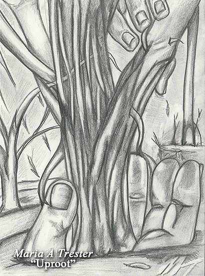 """Uproot"" 8.5""x11"" Pencil Drawing"