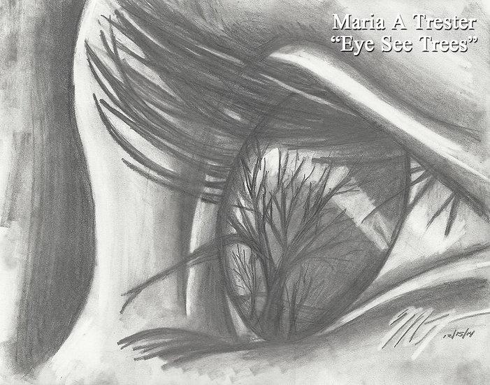 """""""Eye See Trees"""" 8.5""""x11"""" Print w/ Frame"""