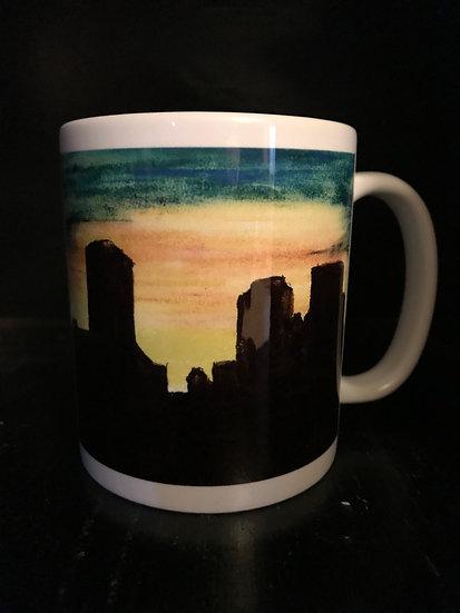 Pastel Tulsa Skyline Mug