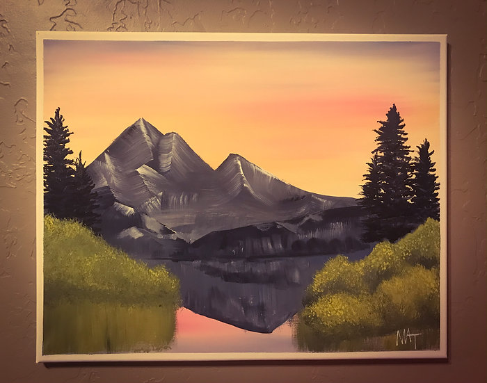 Mountainside Sunset