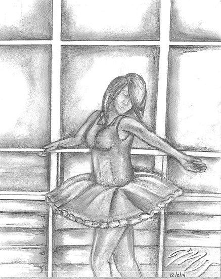 """""""Faceless Ballerina"""" Print w/ Frame"""