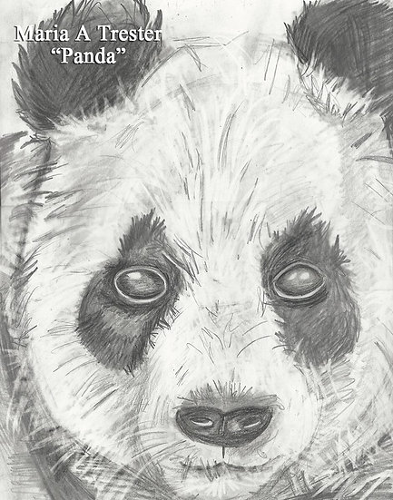 """""""Panda"""" 8.5""""x11"""" Print w/ Frame"""