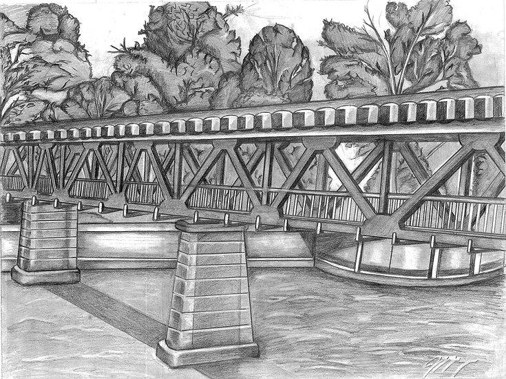 """""""Riverwalk"""" Print w/ Frame"""
