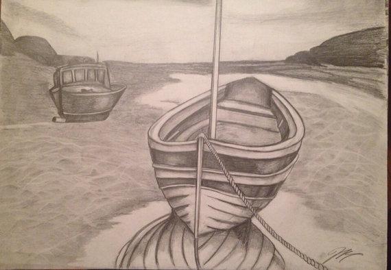"""The Boat"" Print w/ Frame"