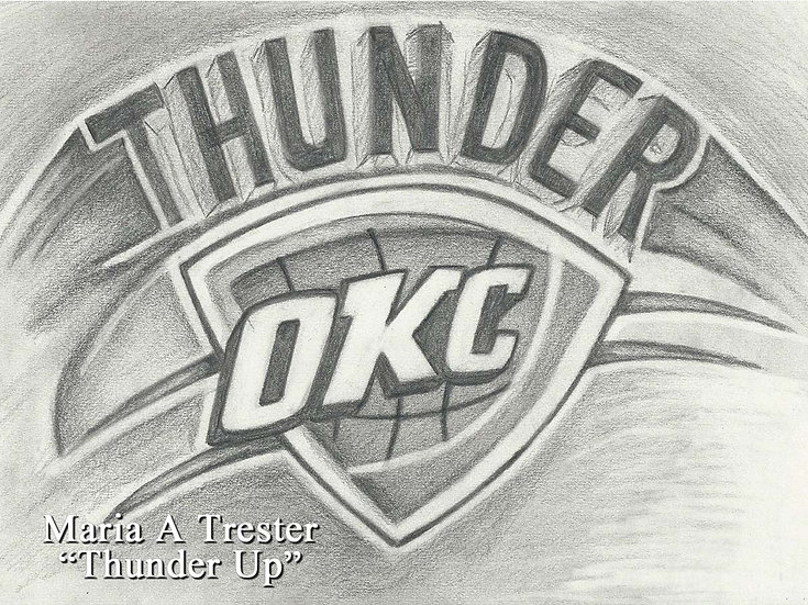 """Thunder Up"" 8.5""x11"" Print w/ Frame"