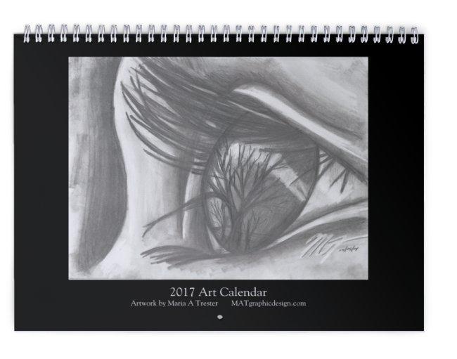 Darker Art Wall Calendar