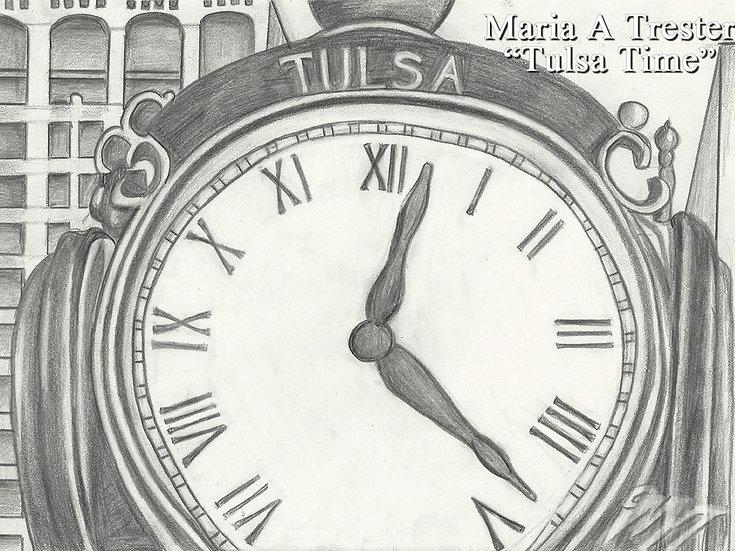 """Tulsa Time"" 8.5""x11"" Print w/ Frame"