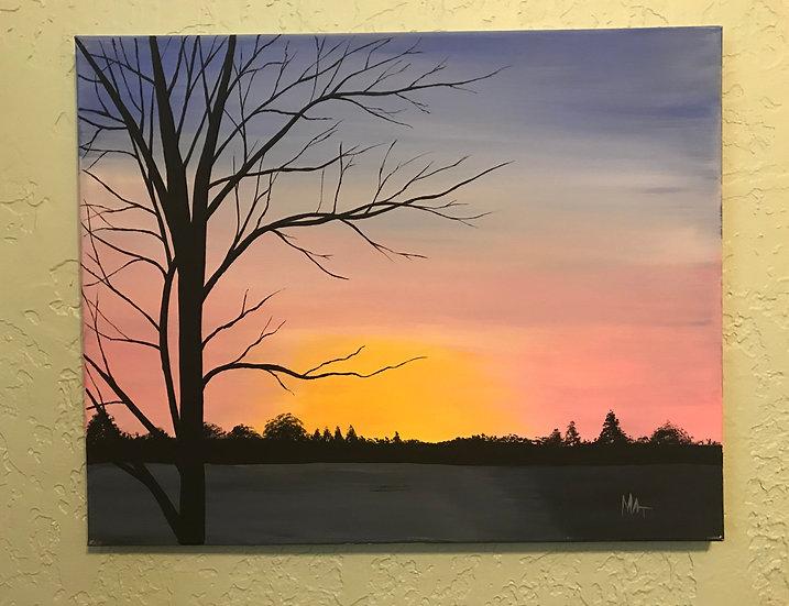 a Still Sunset