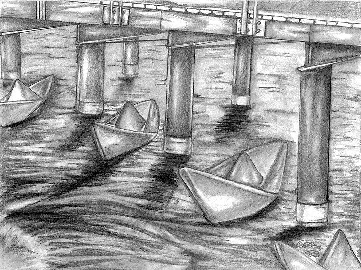 """Water Under the Bridge"" Print w/ Frame"