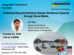 Invited talk at the Geography Colloquium, University of Wisconsin Milwaukee