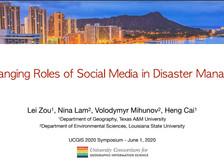 Dr. Lei Zou presented at the UCGIS 2020 Symposium